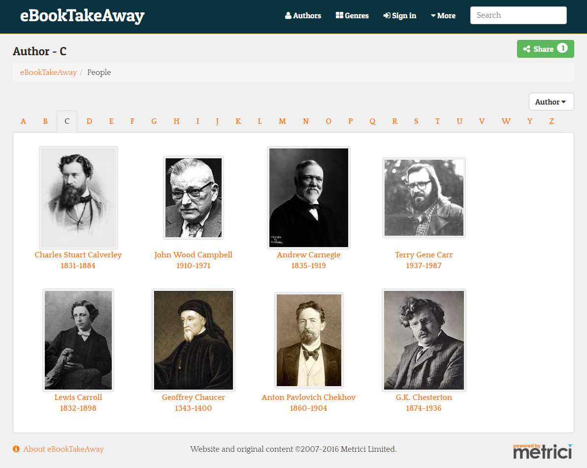 eBookTakeAway screen shot