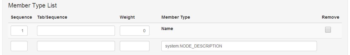 Member type list